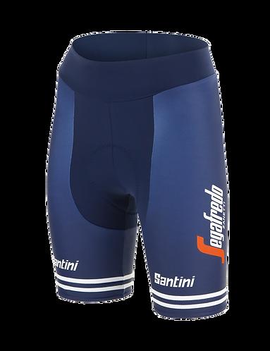 Santini TREK-SEGAFREDO 2020 - FAN LINE WOMEN BIBLESS SHORTS - Kerékpáros nadrág