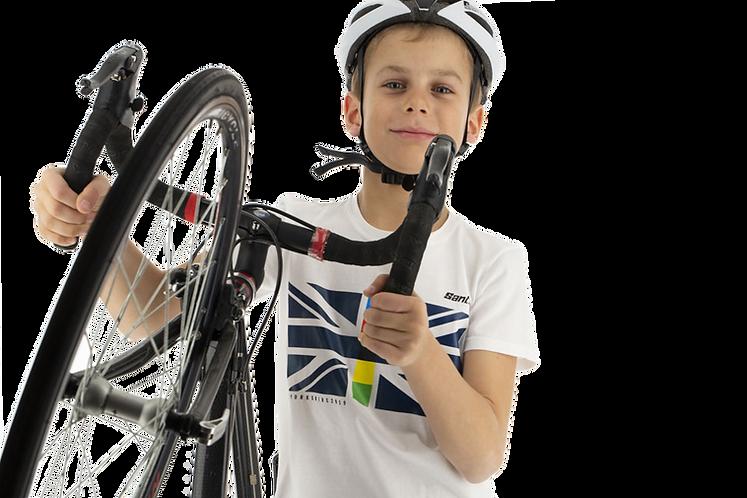 Santini UCI UJACK 2019 - KID T-SHIRT WHITE - Gyerek póló