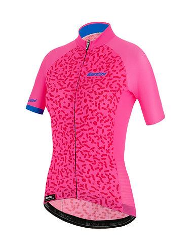 Santini TONO CHROMOSOME - Női kerékpáros mez pink