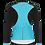 Thumbnail: Santini CORAL - JACKET AQUA for women - Kerékpáros Női Téli kabát