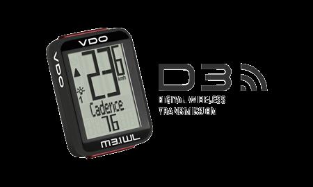 VDO M3.1 WL + Cad Cycle Computer - Kerékpáros óra