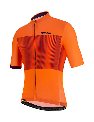 Santini TONO FLUSSO - Kerékpáros mez narancs