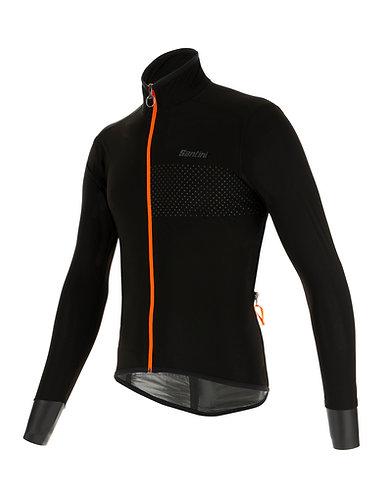Santini guard nimbus jacket - Kerékpáros kabát fekete-narancs