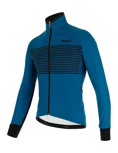 Santini colore jacket - Kerékpáros téli kabát petróleumzöld