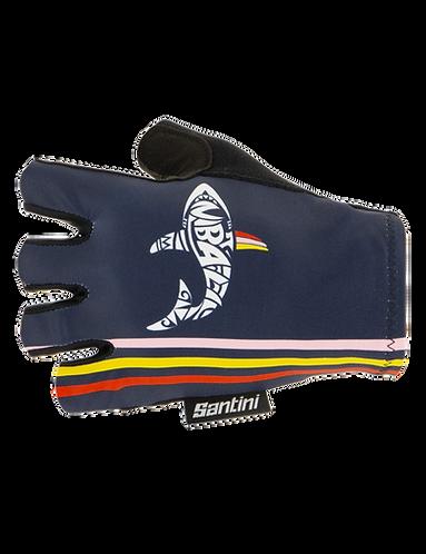 Santini TREK-SEGAFREDO 2020 - NIBALI - SUMMER GLOVES - Kerékpáros kesztyű