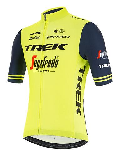 Santini TREK-SEGAFREDO 2021 FAN LINE JERSEY FLUO - Kerékpáros mez fluo