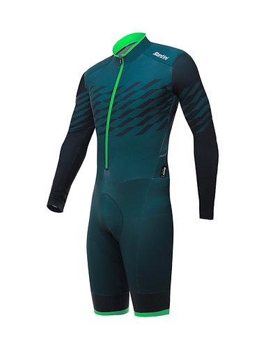 Santini Boss petrolio - Cyclocross suit - Cyclocross ruha