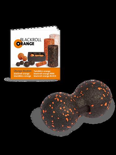 Blackroll TWINBALL-orange 8cm - dupla, pontszerű fasciamasszázs