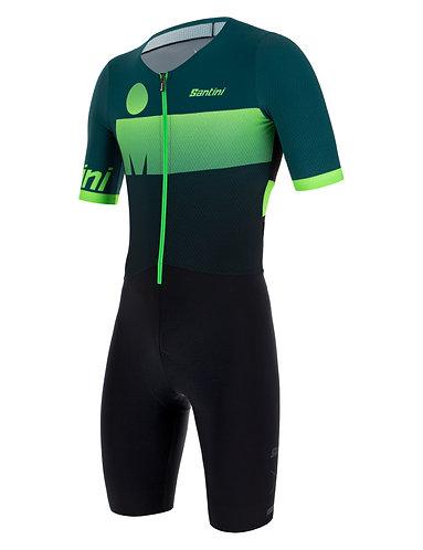 Santini Ironman AUDAX TRISUIT GREEN - Triatlonos egyberuha