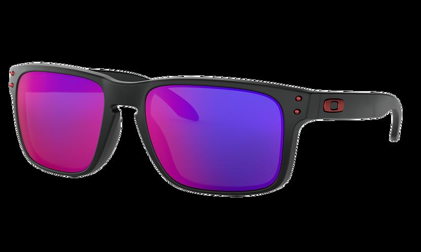 OAKLEY Holbrook Matte Black / Positive Red Iridium lens- sportszemüveg