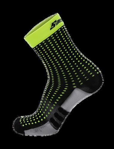 Santini ORIGINE - SOCKS BLACK - Kerékpáros közép profilú zokni