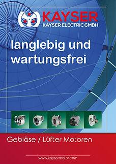 Gebläse, Lüfter Motoren, Kayser Electric