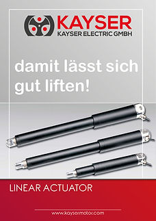Linear Actuators, Spindelantrieb