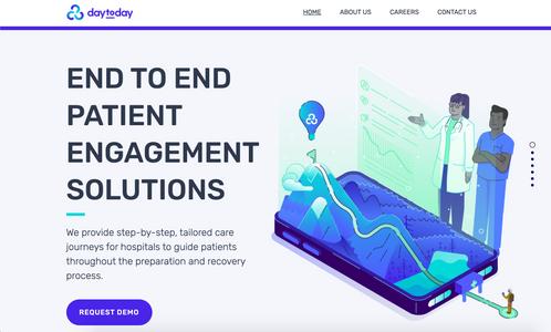 DayToDay Health landing page