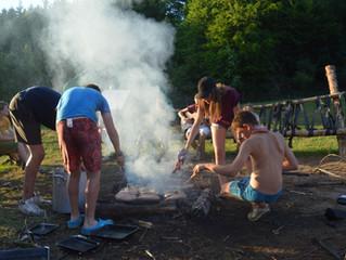 Camp éclaireur à Saint-léger