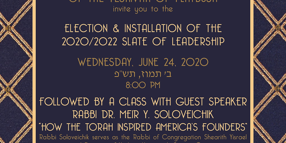 Elections & Installation of 2020/2022 Slate of Leadership