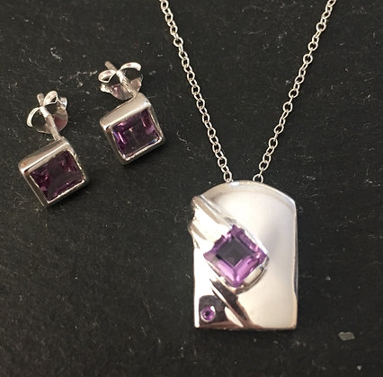 Amethyst and Silver Set