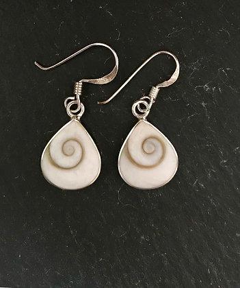 Shiva Shell Teardrop Earrings