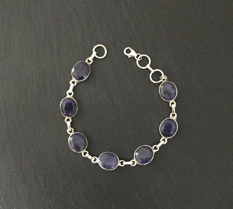 Sapphire and Silver Bracelet