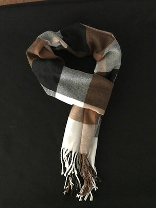 Brown and Black Scarf