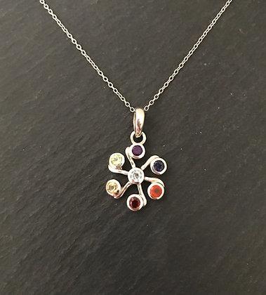 Chakra and Silver Pendant