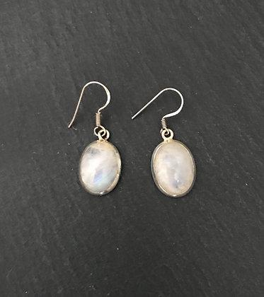 Oval Moonstone Earrings