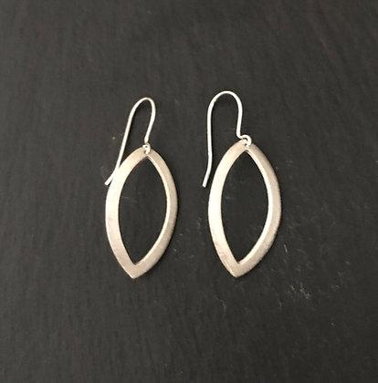 Satin Finish Silver Kite Earrings