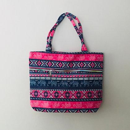 Pink Elephant  Material Shoulder Bag