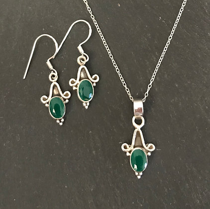 Emerald and Silver Set