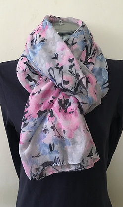 Grey and Pink Scarf