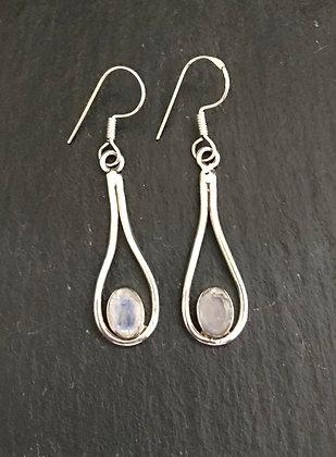 Teardrop Moonstone Earrings