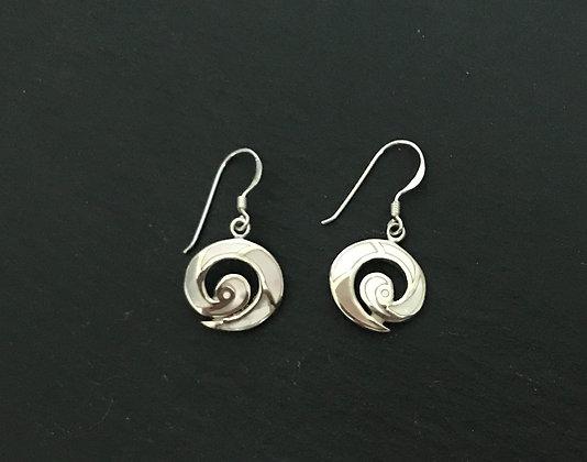 Mother Of Pearl Swirl Earrings