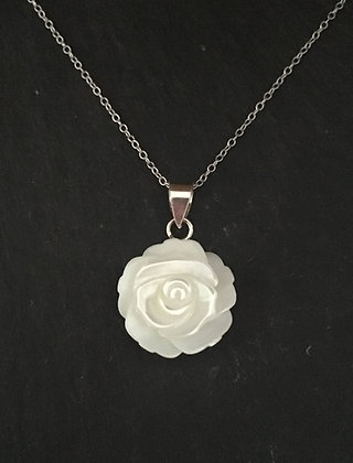 Mother of Pearl Rose Pendant