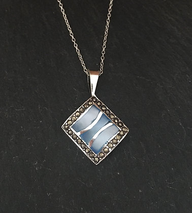 Marcasite and Mother of Pearl Pendant