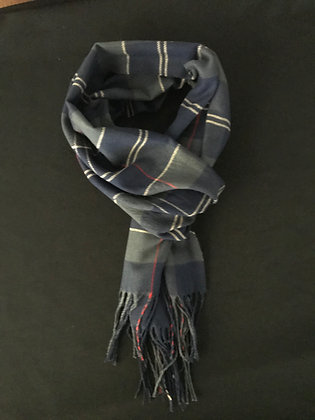 Dark Green and Blue Scarf