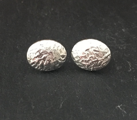 Silver Oval Studs