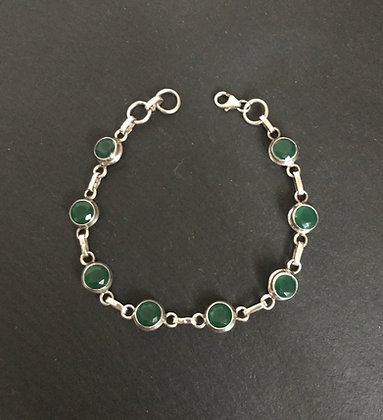 Round Emerald Bracelet