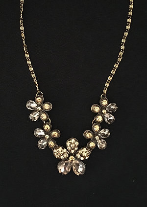 Gold Bling Flower Necklace