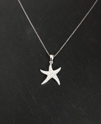 Silver Starfish Pendant