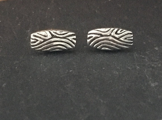 Silver Rectangle Studs
