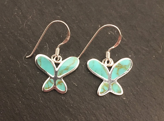 Turquoise Butterfly Earrings
