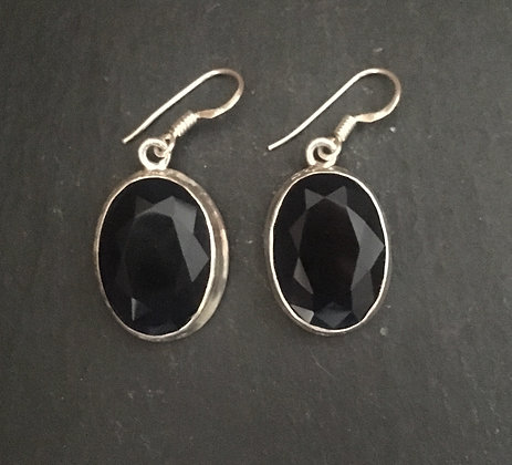 Large Sapphire Oval Drop Earrings