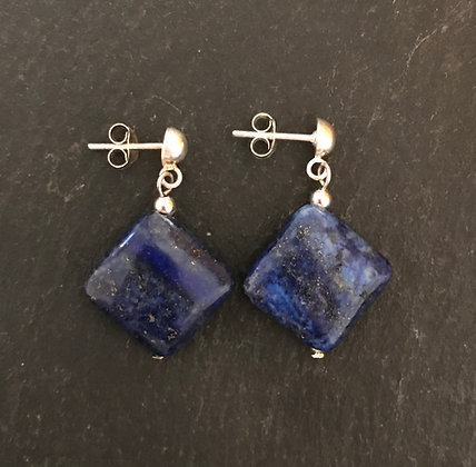Lapis Lazuli Kite Earrings