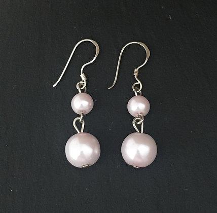 Pale Pink Bead Earrings