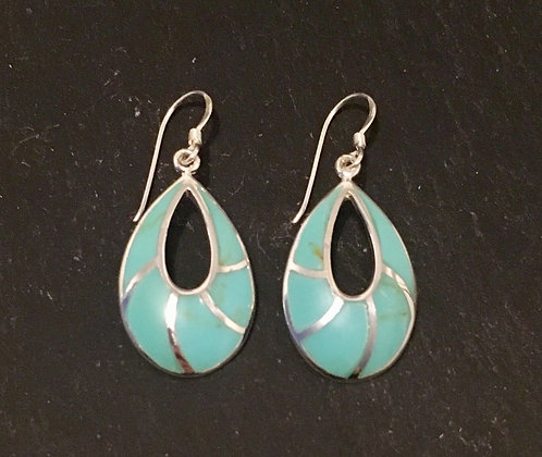 Open Oval Turquoise