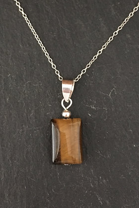 Tiger's Eye Rectangle Pendant