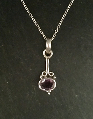 Amethyst and Silver Pendant