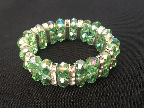 Two Row Coloured Bead Bracelet