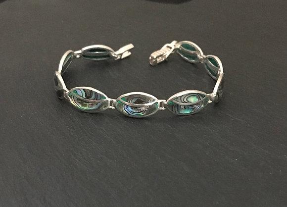 Oval Paua Shell Bracelet