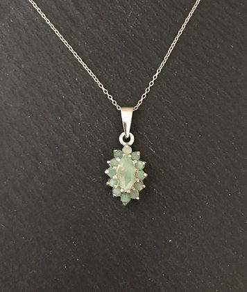 Emerald Kite Pendant